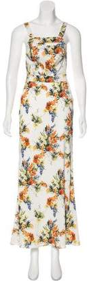 Haute Hippie Floral Maxi Dress w/ Tags