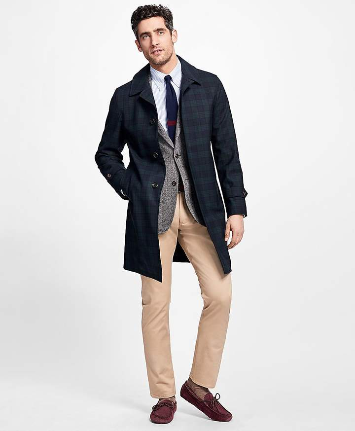 Brooks Brothers Black Watch Trench Coat
