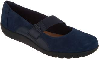 Clarks Leather Slip-on Mary Janes - Medora Frost