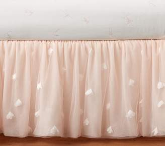 Pottery Barn Kids Monique Lhuillier Blush Pink Ethereal Bed Skirt