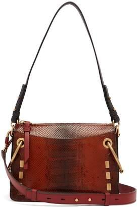 Chloé Roy small snake-effect leather shoulder bag