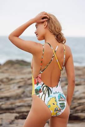 Out From Under Pattern Scoop Back One-Piece Swimsuit