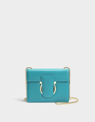Salvatore Ferragamo Thalia Crossbody Bag in Dark Aqua Green Mufasa Leather 03ff7925c5ea5