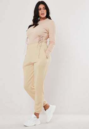 Missguided Plus Size Cream Joggers