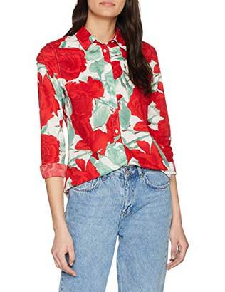 Gant Women's O1. Rose Voile Shirt Blouse, (Bright Red 620), (Size: 38)
