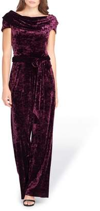 Tahari Crushed Velvet Jumpsuit