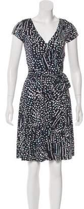 Issa Printed Knee-Length Dress Navy Printed Knee-Length Dress