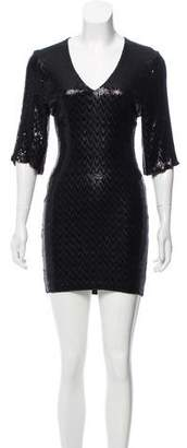 Saint Laurent Sequin Mini Dress