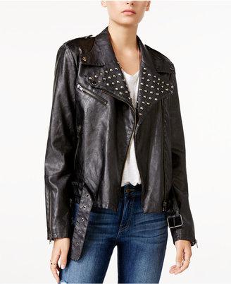 WILLIAM RAST Kate Embellished Faux-Leather Moto Jacket $149.50 thestylecure.com