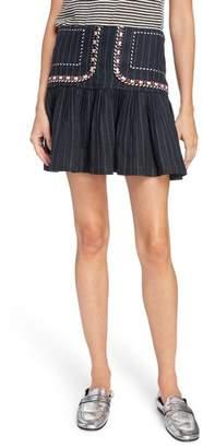 Etoile Isabel Marant Jessie Embroidered Linen Skirt