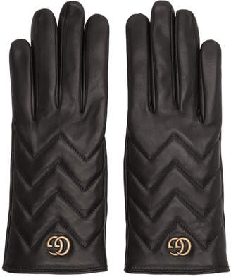 Gucci Black GG Marmont Gloves