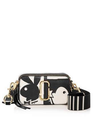 Marc Jacobs Snapshot Playboy Print Embossed Leather Mini Crossbody