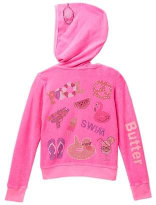 Butter Shoes Super Soft Mineral Wash Terry Hoodie (Little Girls)