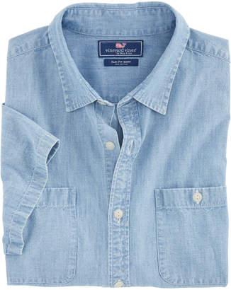 Vineyard Vines Short-Sleeve Chambray Dockside Slim Murray Shirt