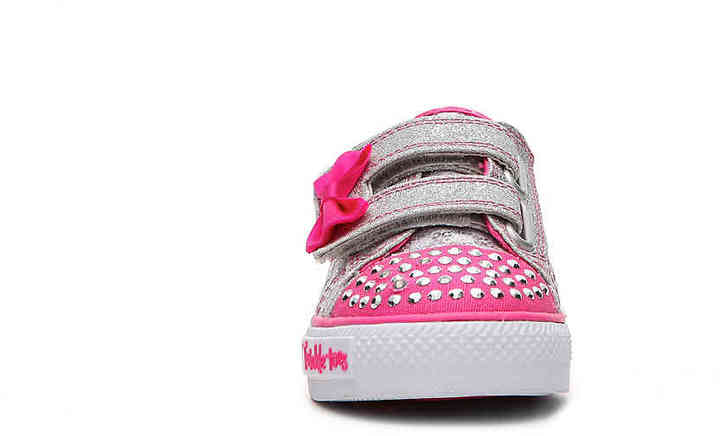 Skechers Girls Twinkle Toes Shuffles Sweet Steps Toddler Light-Up Sneaker