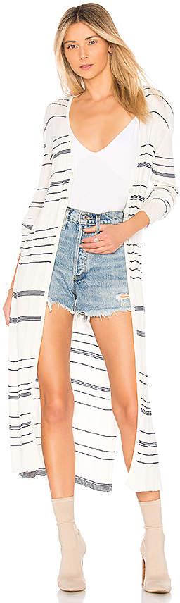 NAADAM Striped Long Cardigan