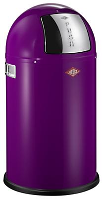 wesco pushboy junior bin 22l purple home. Black Bedroom Furniture Sets. Home Design Ideas
