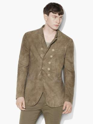 Suede Double-Breasted Jacket $2,198 thestylecure.com