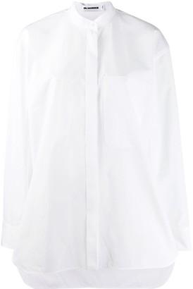 Jil Sander oversized collarless shirt