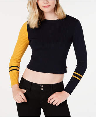 Tommy Hilfiger Cropped Colorblocked Sweater