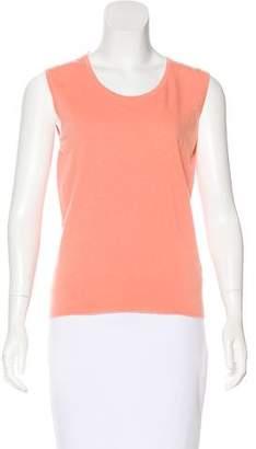 Chanel Sleeveless Cashmere Sweater