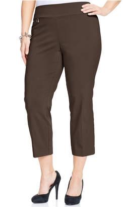 Alfani Plus Size Pull-On Capri Pants, Created for Macy's