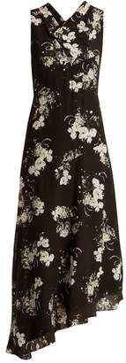 Erdem Milana cowl-neck silk crepe de Chine dress