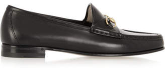 Gucci - Horsebit-detailed Leather Loafers - Black $640 thestylecure.com