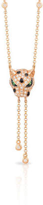 Effy 14K Rose Gold Tiger Pendant Necklace with 0.35 TCW Diamond