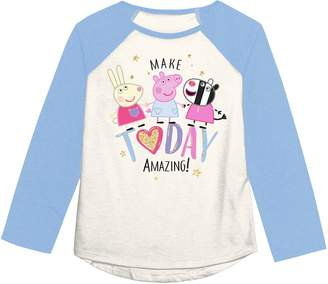 """Peppa Pig Girls 4-12 Jumping Beans Make Today Amazing"""" Graphic Tee"""