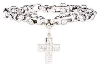 Diamond Cross Charm Bracelet