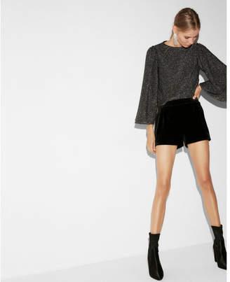 Express high waisted velvet shorts