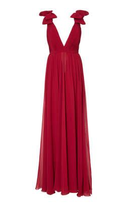 Elie Saab Bow Shoulder Dress
