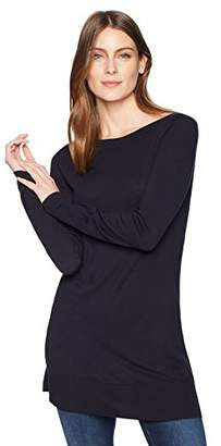 Lark & Ro Women's Boatneck Tunic Sweater
