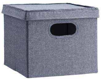 Pottery Barn Teen Closet Sweater Bins With Lid, Chambray