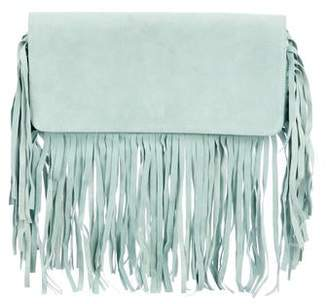 The Perfext Fringed Suede Clutch