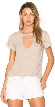 LNA Short Sleeve Cut Out V Tee $88 thestylecure.com