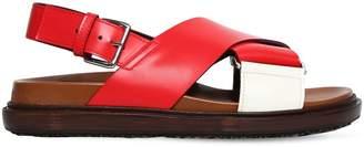 Marni 30mm Crisscrossing Leather Sandals