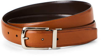 Cole Haan Brown & Tan Leather Reversible Belt