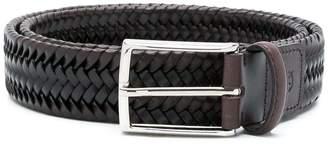 Canali braided buckle belt