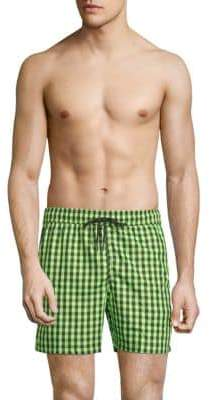 Jared Lang Checkered Swim Shorts
