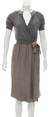 Brunello Cucinelli A-Line Midi Dress