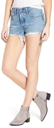 501(R) Distressed Cutoff Denim Shorts