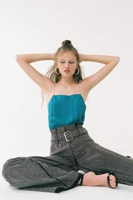 Urban Outfitters Debbie Satin Rhinestone-Strap Cami