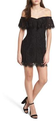 WAYF Venice Off the Shoulder Lace Minidress