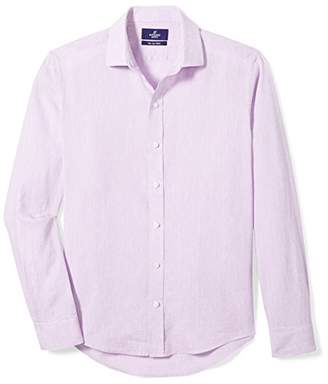 Buttoned Down Men's Slim Fit Casual Linen Sport Shirt