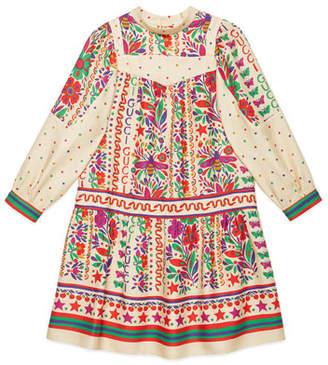 Gucci Multi Floral Print Maxi Dress, Size 4-12