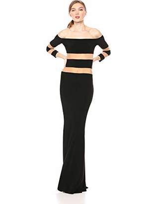 Norma Kamali Women's Spliced Off Shoulder Fishtail Gown