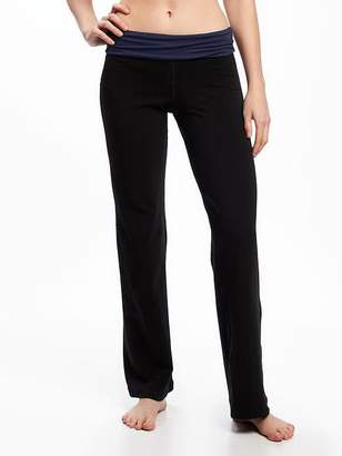 Old Navy Mid-Rise Wide-Leg Roll-Over Yoga Pants for Women