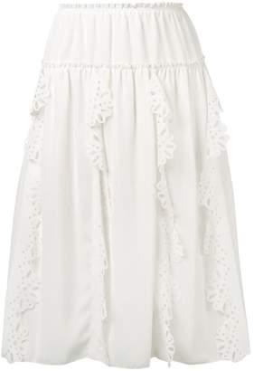 See by Chloe crocheted detail full skirt